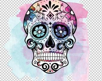 3fbce56c PNG files Sugar Skull Bike parts Watercolor