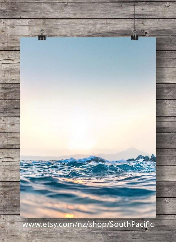 Ocean Print Printable Art Nautical Wall Art Digital Print Sea Photo Beach Decor Marine Art Coastal Art Print Scandinavian Blue Art