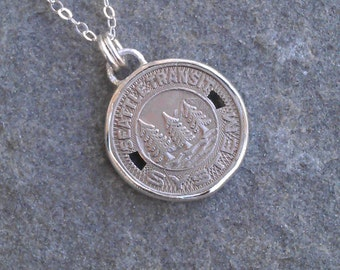 Seattle Transit Token Necklace *free shipping*