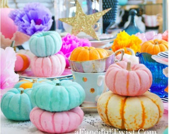 Pastel Pumpkin Party - 5 Postcard set
