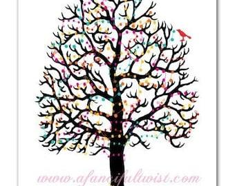 Tree Party - 5 Postcard Set