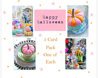 Whimsical Halloween Fun - 5 Postcard set