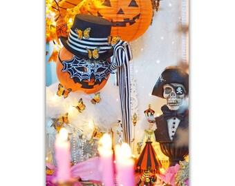 Pumpkin Queen Pink Candlelight- 5 postcard set