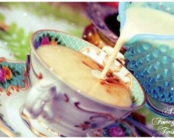 5 Postcard Set - Mad Tea Party - Tea and Milk