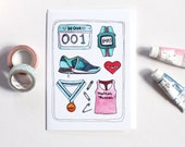 Blank Mother's Day Card - Mother Runner