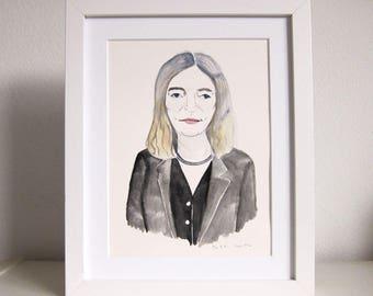 Portrait Painting - Patti Smith Art - Original Watercolor Painting - Watercolor Art - Art - Portrait Art - Queen of Punk - Patti Smith