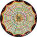 Anna Braybrooks reviewed Cosmic Circle, Rainbow Spider Web, Sun Light catcher window cling, Home / Car / Bottle glass decor, Modern Hippie, Psychedelic Visionary Art