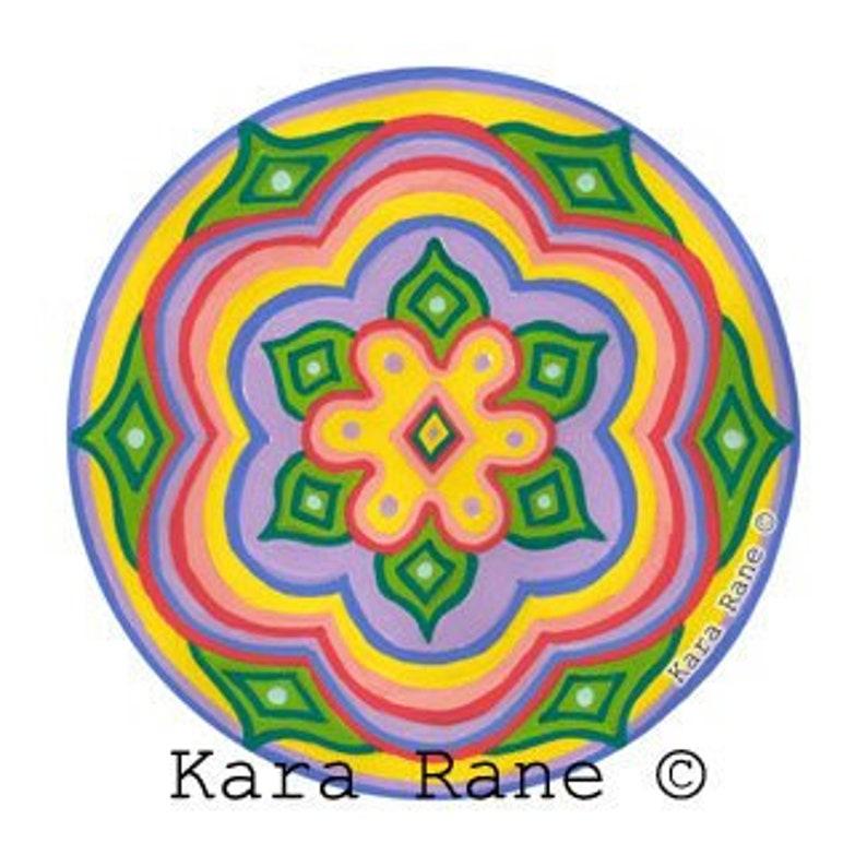 Cosmic Circle Daisy Peace Flower Sun Light catcher window image 0