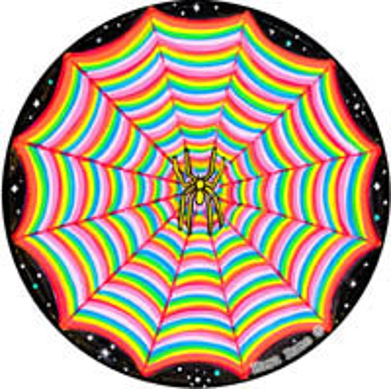 Cosmic Circle Rainbow Spider Web Eco Friendly Art Sun Light image 0
