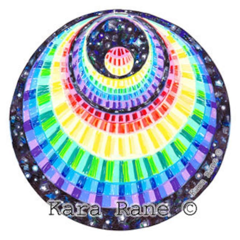 Cosmic Circle Rainbow Angel small Sun light catcher Window image 0