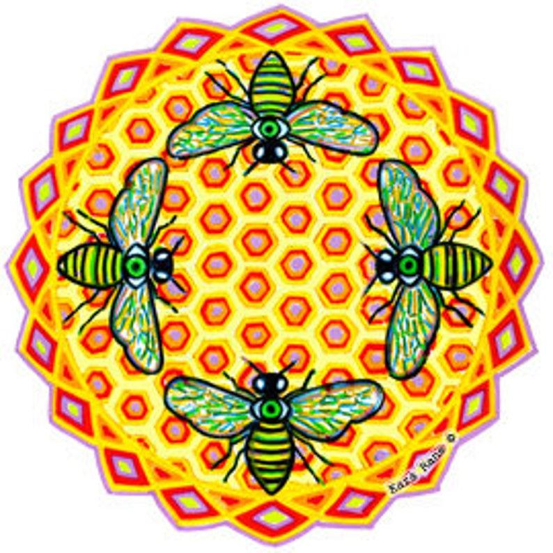 Cosmic Circle Bees See small Sun Light Catcher Window image 0