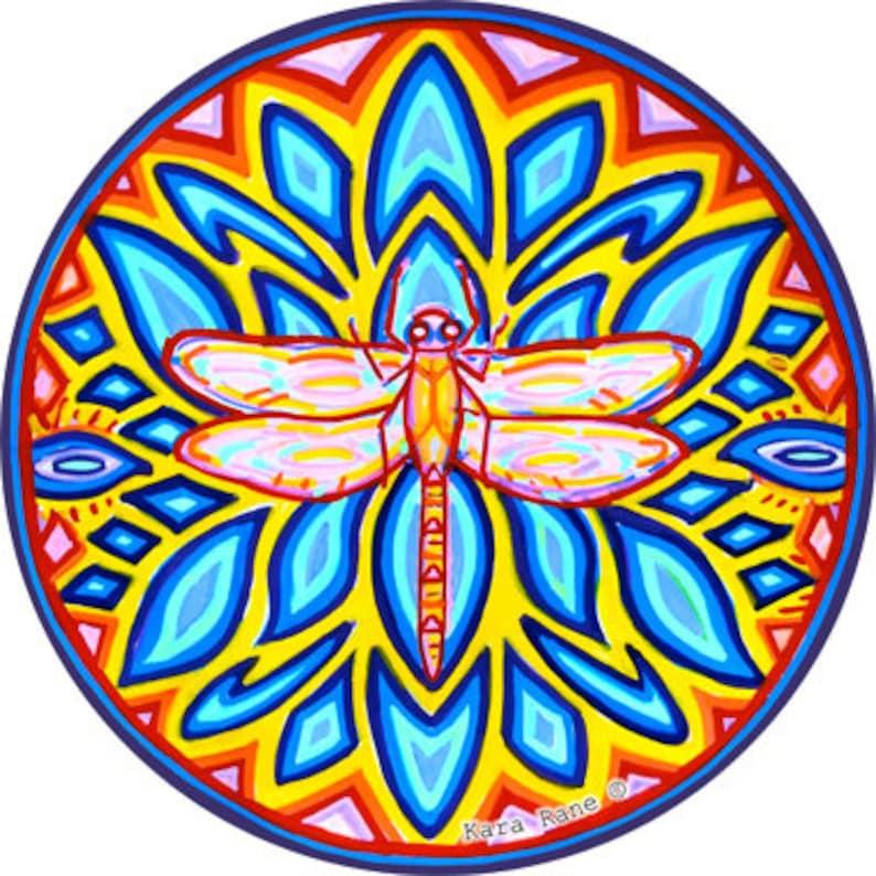 Cosmic Circle Dragonfly Water Spirit Sun Light catcher image 0