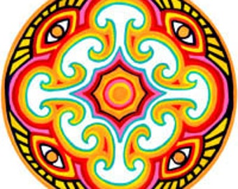 Cosmic Circle, Myco Eye, Sun Light catcher window cling, Magical Mushroom, Third Eye Visualization, Eco-friendly Art, Home decor, Mycophile