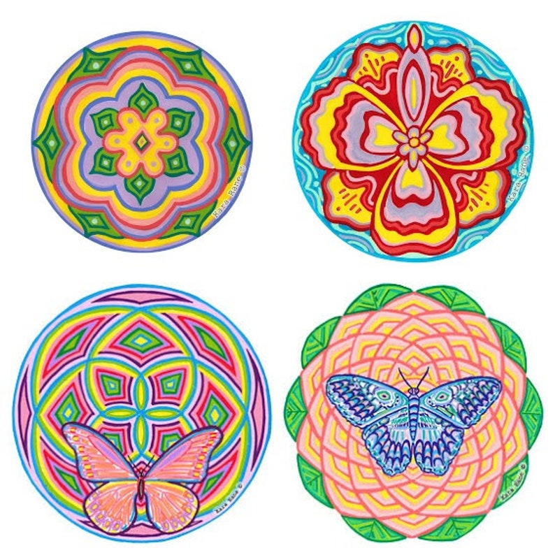 Choose any 4 2 large  2 small Cosmic Circles Eco friendly image 0