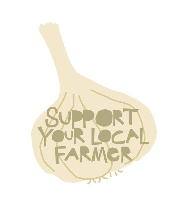 Bumpersticker Support Your Local Farmer Corn diecut decal