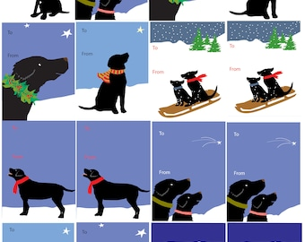gift tags black labs