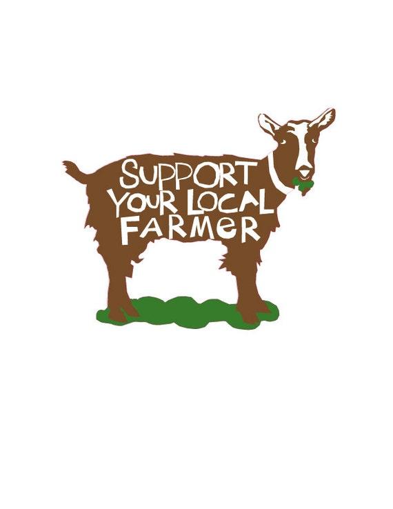 Bumpersticker Support Your Local Farmer Corn diecut decal
