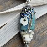 Handmade Art Glass Necklace . Tree of Life . Lampwork . Julie Nordine . Credit River Art Glass . N9