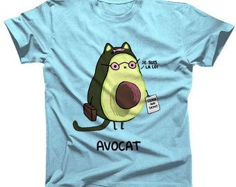 f838dd6d48e Avocat French Cat Lawyer Pun Tshirt version 2.0 (womens sizes are a junior  fit