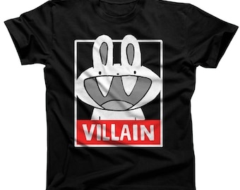 Bunny Villain Tshirt (women's sizes are a junior fit, ie they run small)