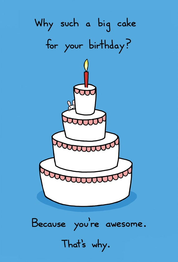 happy birthday you re awesome greeting card etsy