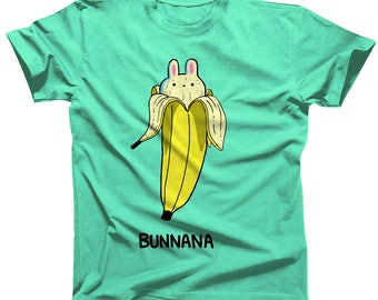 Bunnana Food Pun Tshirt (womens sizes are a junior fit, ie they run small)