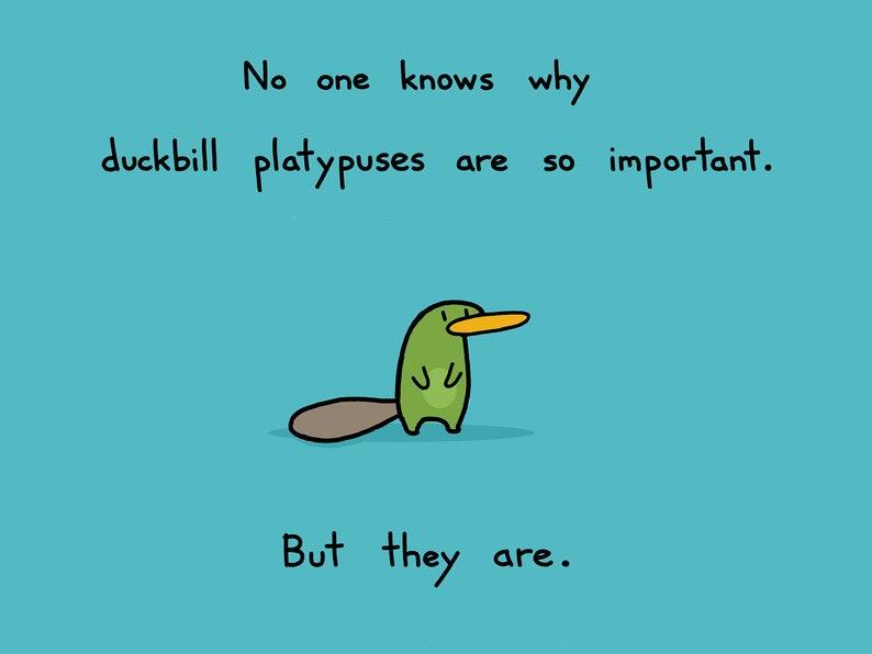 803a4418a31f Duckbill Platypus Art Print | Etsy