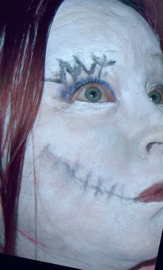 Christmas Halloween Makeup.Nightmare Before Christmas Sally Stitches Stage Halloween Costume Makeup Face Paint