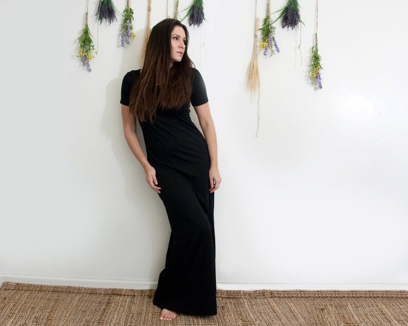 6b1ded9cd52 Women's Dress Short Sleeve Maxi Dress Tall and Petite | Etsy