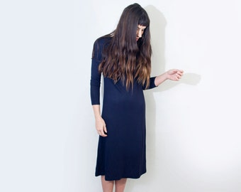 Boatneck Midi Dress | Women's Quarter Sleeve | Tall Petite Length Dresses | Ethically made in our USA loft | L415&Co Clothing (#415-951)