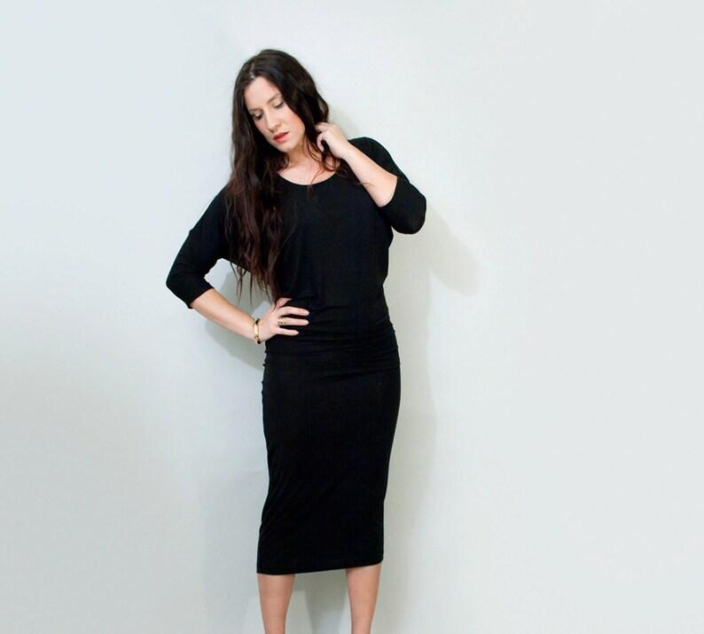 9f157289eda Midi Dress Elbow Quarter Sleeve Draped Dresses Tall