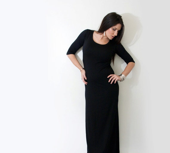 Petite Maxi Dress Elbow Sleeves