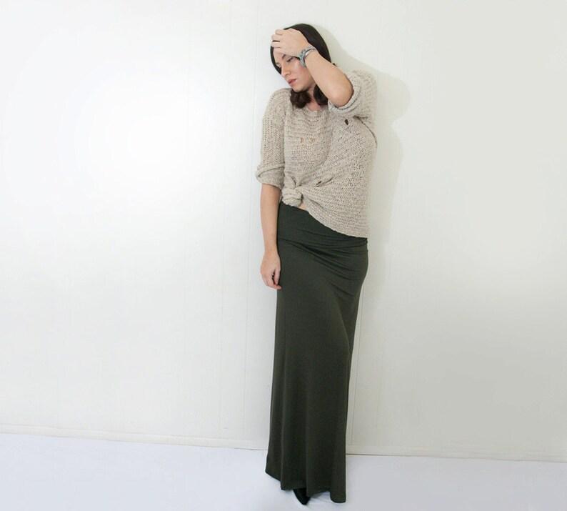 77069b5131 Maxi Skirt Bohemian Women's Long Skirts Fold Over | Etsy