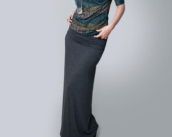 Maxi Skirt   Women's Long Skirts   Minimalist Bohemian   Tall Petite Length Maxi   Made in our USA loft   L415 & Co Clothing (# 415 -100)