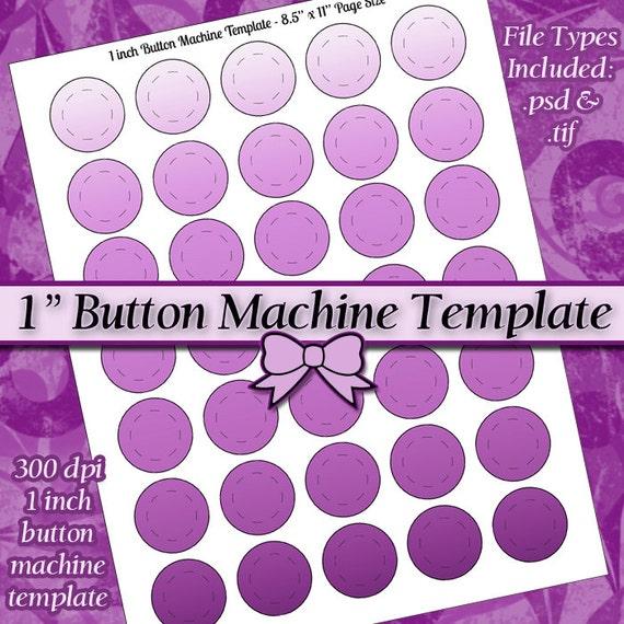 1 Inch Button Machine TEMPLATE DIY DIGITAL Collage Sheet