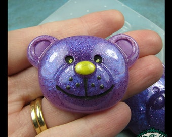 resin MOLD TEDDY BEAR Head 51x36mm also works with soap, candle wax, and clay