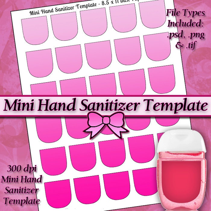 NEW Mini Hand Sanitizer Label DIGITAL Collage Sheet TEMPLATE   Etsy