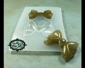 resin MOLD Kawaii Medium BOW x2 also for polymer clay, pmc, plaster, soaps, and candles