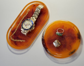 Resin and Pigment Jewelry/Trinket Trays - FREE Shipping US/Canada only