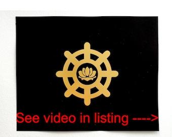 Original artwork - Buddhist Symbol - FREE Shipping N.America