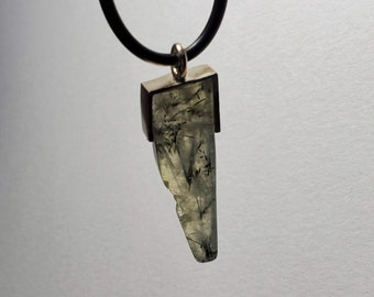 Prehnite Pendant with Necklace - FREE Shipping US and Canada