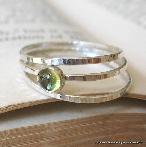Peridot ring peridot jewelry hammered rings energy stone jewelry chunky ring affordable rings gift for her imperfectly perfect