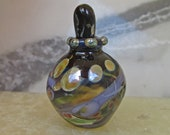 Miniature purple glass bottle, Handmade Lampwork keepsake urn, ash or perfume bottle, memorial amphora , SRA, Isinglass Design