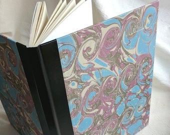 Grand cahier Journal, surdimensionné journal relié avec marbrure originale