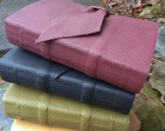 Half Price SALE - Leather Journal - tea-stained pages