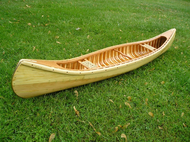 Hand Crafted Wooden Model Canoe Short Summer Sale Wont Be Offered Very Long