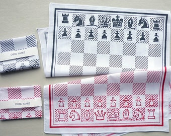 Chess Board Screenprinted Cotton Handkerchief