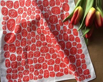 Happy Heads Hankie screenprinted cotton square handkerchief