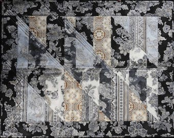 Contemporary quilted wallhanging