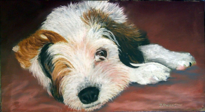 18x24 Pet Portrait original painting in either oil paints or image 0